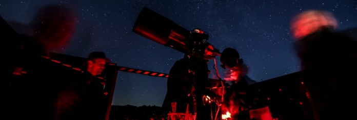 Astronomers at Dark Sky Observatory