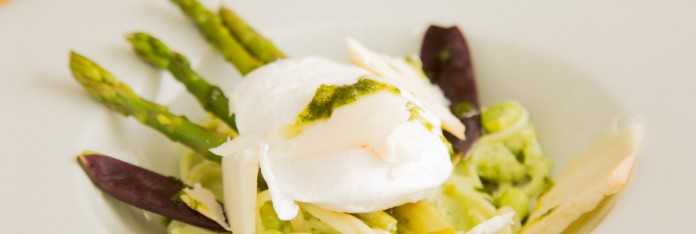 Poached Egg and Asperagos