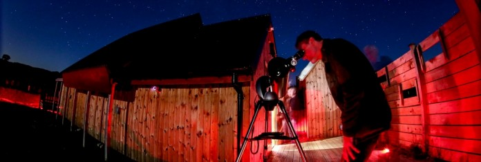 Small telescope at the Dark Sky Observatory