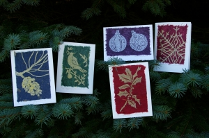 Linocut Christmas Cards & Gift Tags