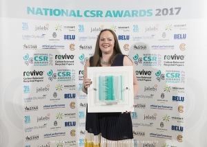 General manager of Battlesteads Katie Meyrick with the Clean and Green Award.