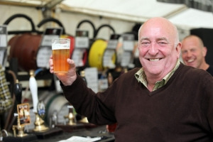 Richard Slade raising a glass to the success of the third annual Battlesteads Beer Fest. Courtesy of The Hexham Courant.