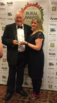 Richard Slade receives the Tourism and Hospitality Award