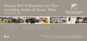 Dinner, Bed & Breakfast with a Bottle of House Wine