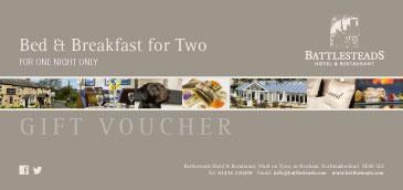Battlesteads Luxury Lodge Bed & Breakfast for Two Voucher