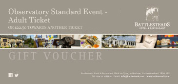 Battlesteads Observatory Standard Event - Adult Ticket Voucher