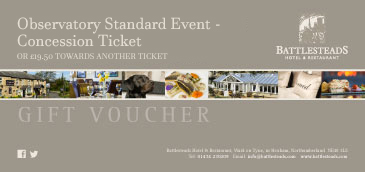 Battlesteads Observatory Standard Event - Concession Ticket Voucher